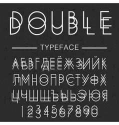 Double typeface font made by doublescript modern vector image vector image