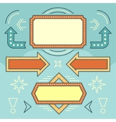 Retro American 1950s Sign Design Elements Set vector image vector image
