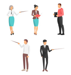 set of icons business people vector image