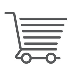 shopping cart line icon e commerce and store vector image