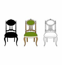 Style medallion-chair vector