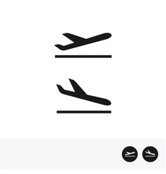 arrivals and departure plane icons vector image