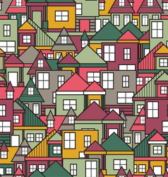 House seamless pattern vector image vector image