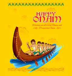 Snakeboat race in onam celebration background for vector