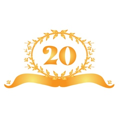 20th anniversary banner vector image