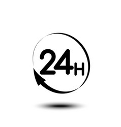24 hours logo icon or signboard for your business vector