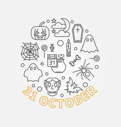 31 october holiday round outline vector image