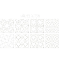 8 hairlines geometric patterns set 1 vector image