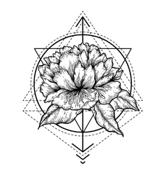 Abstract floral tattoo vector