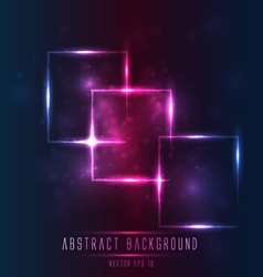 abstract light frame background vector image