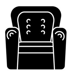 armchair icon black sign on vector image