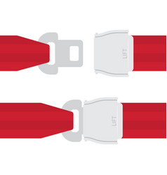 Aviation seat belt icon vector