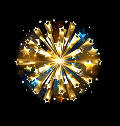 ball gold stars vector image