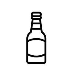 beer bottle feast of saint patrick line icon vector image