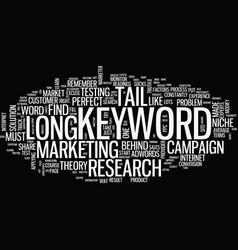 Blind spot long tail keyword text vector