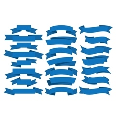 Blue ribbons set vector