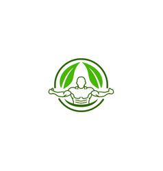 body health logo design concept icon vector image