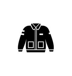 Bomber jacket clothing icon vector