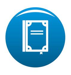 book publication icon blue vector image