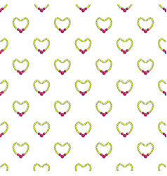 Briliant pearl necklace pattern seamless vector