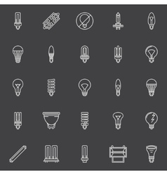 Bulbs icons set vector image
