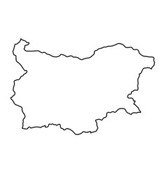 bulgaria map of black contour curves of vector image