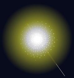 Burning bright sparkler clip art vector image