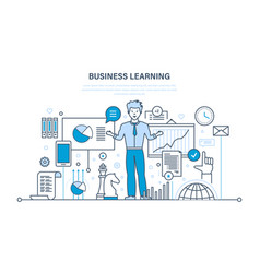 Business learning online education training vector