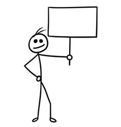 Cartoon man with sign vector