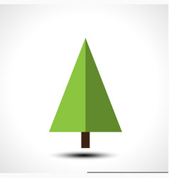 Christmas tree isolated on a white background vector