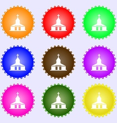 Church Icon sign Big set of colorful diverse vector
