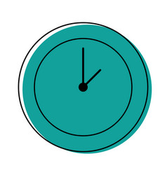 color circle wall clock time object vector image