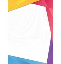 Colorful triangle frame border vector