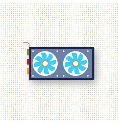 Computer graphics card on a digital background vector