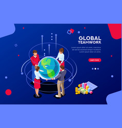 corporate global search idea vector image