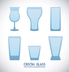cristal glass design vector image