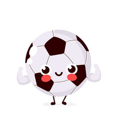 cute strong smiling happy football vector image