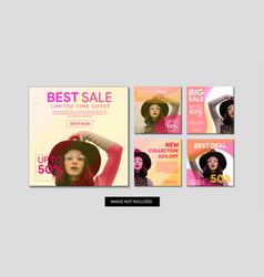 fashion sale banner set vector image