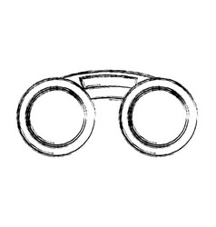 Fashion sunglasses isolated vector