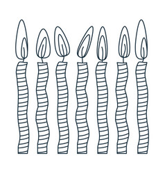 Figure canddles party icon vector