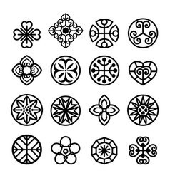 flower graphic icon set vector image