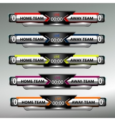 Football Soccer Scoreboard Collection vector