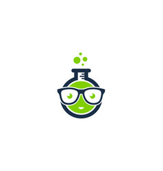 Geek science lab logo icon design vector