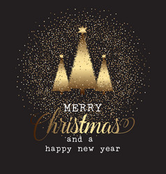 gold christmas tree background vector image