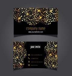 Gold circles business card layout 0605 vector