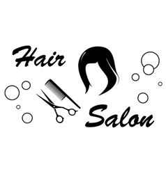 Hair salon sign on white background vector