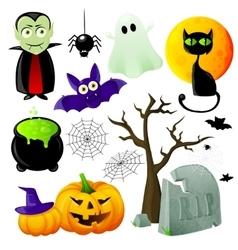 Halloween symbols set vector