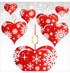 Heart Valentines Day background or card vector