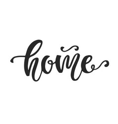 home hand lettering social media vector image