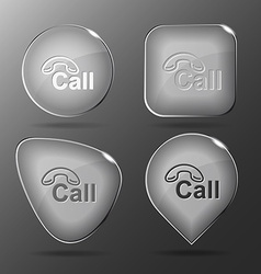 Hotline Glass buttons vector image